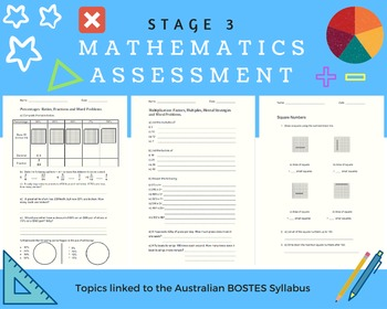 Multiplication, Square Numbers, Percentages, Operations - Assessment Task