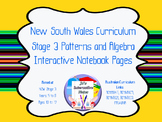 Stage 3 Patterns and Algebra Interactive Notebook Pages -