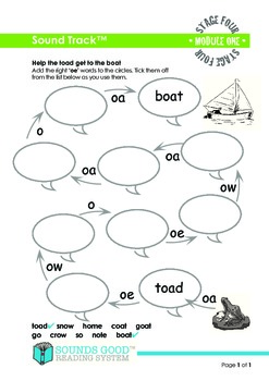 Sounds Good Reading - Stage 4 Module 1 Activity Bundle 'oe' (5pcs)