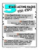 Stage Acting Hacks for Kids FREE poster
