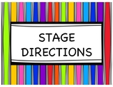 Stage Direction Posters