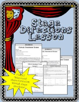 Characterization and Stage Directions Lesson