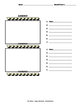 Stage Directions Practice Worksheet