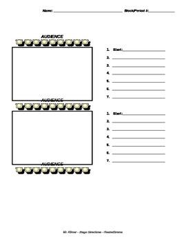 stage directions practice worksheet tpt. Black Bedroom Furniture Sets. Home Design Ideas