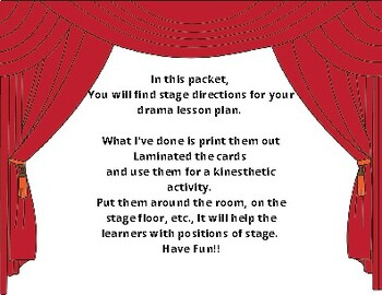 Stage Directions and their abbreviations!