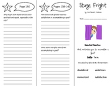 Stage Fright & Catching Quiet Trifold - Wonders 5th Grade Unit 2 Week 5 (2020)