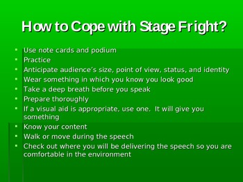 Stage Fright PowerPoint