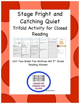 """Stage Fright"" and ""Catching Quiet"" Trifold Activity Readi"