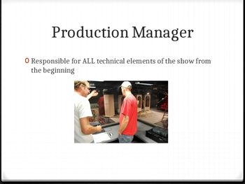 Stage Management: Production Staff, Meetings, and Schedules and Auditions