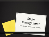 Stage Management: Production Staff, Meetings, and Schedule