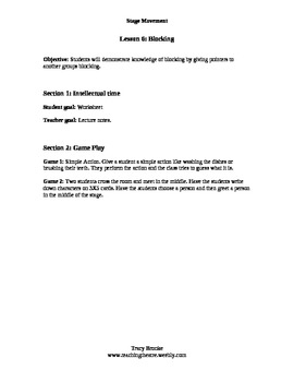 Stage Movement Level 2 Lesson 6 Blocking