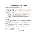 Stage Play Format Handout