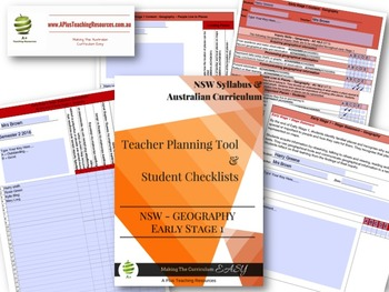 New South Wales Stage Statement Checklists Early Stage 1 GEOGRAPHY
