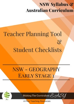 Stage Statement Checklists-NSW Early Stage 1 GEOGRAPHY