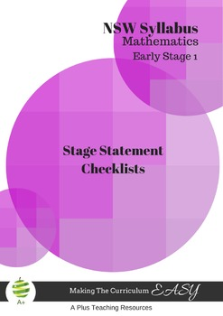 Stage Statement Checklists-NSW Early Stage 1 Maths