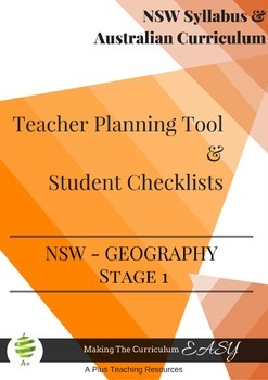 Stage Statement Checklists-NSW Stage 1 GEOGRAPHY