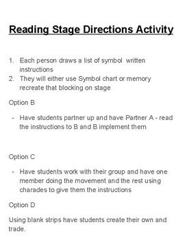 Stage Symbols Activity