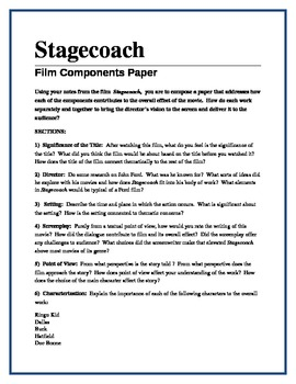 Stagecoach - film components paper