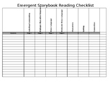 Stages of Emergent Storybook Reading Checklist