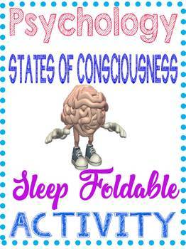 Stages of Sleep Foldable Psychology Consciousness Unit