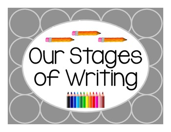 Stages of Writing Display Cards FREEBIE