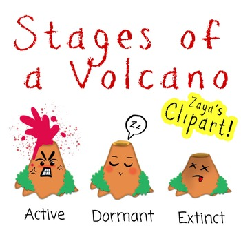 Stages of a Volcano Clipart