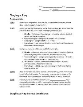 Staging a Play - Final Project