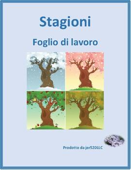Stagioni (Seasons in Italian) worksheet