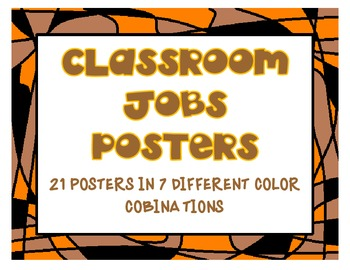 Stain Glass Classroom Jobs Posters