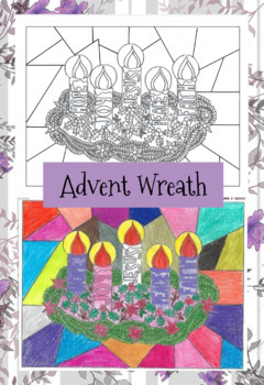 Stained Glass Advent Wreath