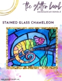 Stained Glass Chameleon Art Project