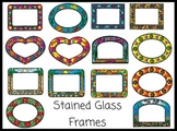 Stained Glass Colorful Frames Clip Art for Your Worksheets