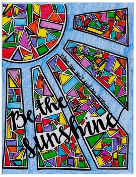 Stained Glass Coloring Page for Fun - Be the Sunshine