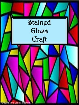 Stained Glass Cross Activity