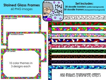 Stained Glass Frames Set