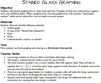 Stained glass graphing slope intercept form by jessica wilkerson stained glass graphing slope intercept form malvernweather Image collections