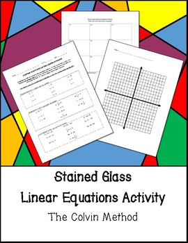 Stained Glass Linear Equations Activity