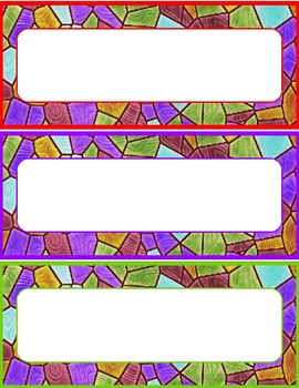 Stained Glass Name Tags