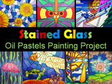 Stained Glass   Oil Pastels Painting Project