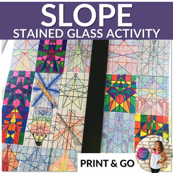Stained Glass Slope Graphing Linear Equations Slope Intercept Form