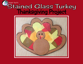Stained Glass Thanksgiving Turkey