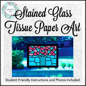 Stained Glass Tissue Paper Art