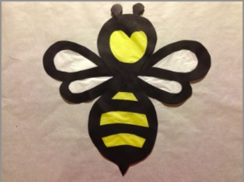 Stained Glass Tissue Paper Bee