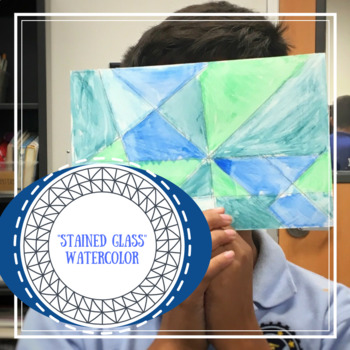 """""""Stained Glass"""" Watercolor"""
