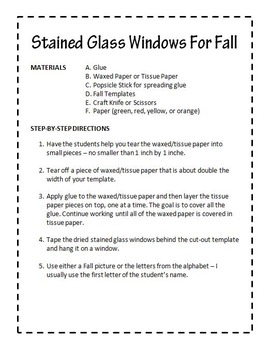 Stained Glass Window For Fall
