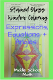 Stained Glass Window   Equations + Expressions Activity