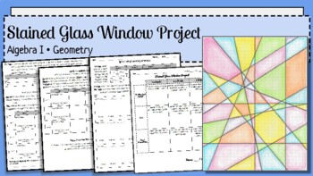 Stained Glass Window Parallel & Perpendicular Lines Project