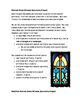 Stained Glass Windows Symmetry Project: Line and Rotation Symmetry