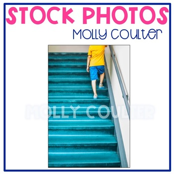 Stock Photo: Student Walking up the Stairs #1 -Personal & Commercial Use