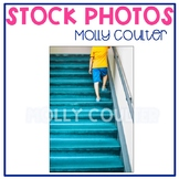 Stock Photo: Student Walking up the Stairs #1 -Personal &